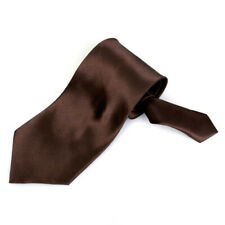Mens Solid Satin Casual Ascot Neck Tie Party Necktie