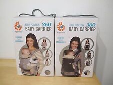 Ergo Baby Four Position 360 Baby Carrier Grey Black & Camel NEW IN BOX ErgoBaby