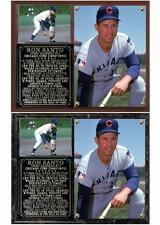 Ron Santo #10 Chicago Cubs Photo Plaque Hall of Fame