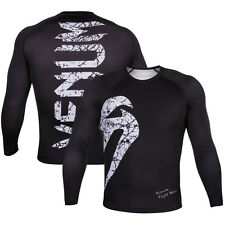 Venum Original Giant Long Sleeve MMA Rashguard - Black/White