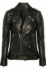 Leather Jacket Coat Women Motorcycle New Womens Biker Soft Black Jacket WJ1122