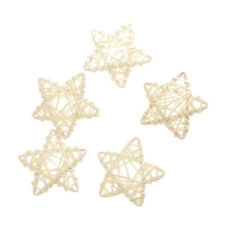 5pcs 6cm Star Shape Vine Cane Rattan Decoration Christmas Wedding Home Ornament