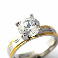 Stainless steel cz ring womens Gemstone wedding love band ring lot size 6 7 8 9