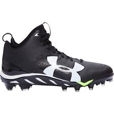 New Under Armour Spine Fierce MC Football Cleats 1269740-001 (Black/White)