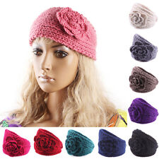 Crochet Headband Knit hairband Flower Winter Women Lady Ear Warmer Headwrap