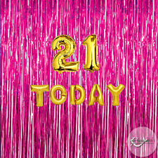 21 Today Birthday Foil Balloons Party Decorations Boys Girls Gold Silver 21st