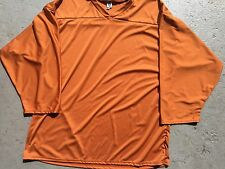 BURNT ORANGE Authentic Midweight BLANK Men Youth League Hockey Practice Jersey