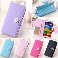 Flip Leather Card Wallet Case Cover Stand For Samsung Galaxy S3 S5 Note 3 S0BZ