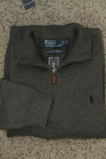 Polo Ralph Lauren Cable Knit Half-Zip Sweater Dark Gray New NWT