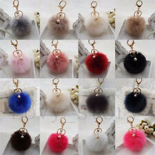 Plush Keychain For Keys Cell Phone Car Toy Charms Key Ring Cute Plush Ball