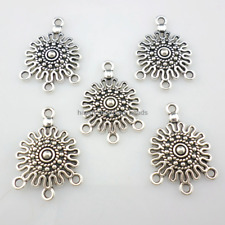20/180pcs Tibetan silver 1 To 3 hole earring Connectors Charms 18.5x26mm