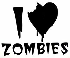 I Love Heart Zombies Cool Funny Car Truck Window Vinyl Decal Sticker 10 Colors