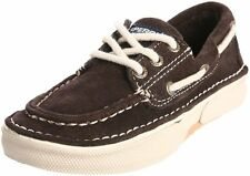 Sperry Topsider 2 2.5 M Youth Largo 3-Eye Boat Shoes Leather Dark Brown