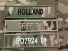 Name Tapes (Multicam MTP name tapes (x3 VELCRO BACKED )  for MTP issue uniform)