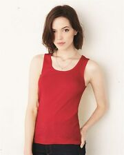 Bella & Canvas Ladies 2x1 Rib Cotton Tank Top Shirt 4000