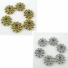 80/600pcs Tibetan silver/Gold Daisy Spacer Beads 8mm (Lead-free)