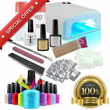 Deluxe CCO Professional Starter Kit UV Gel Nail Polish Set with 36w Light Lamp