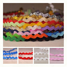 5mm Fashion Ric Rac Lace Sewing Braid Doll Scrapbooking School Craft DIY Trim