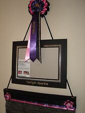 Your 2016 Rosette display hanger with personalised rosette and photo frame
