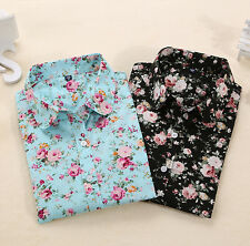 Women Blouses Turn Down Blouse Floral Long Sleeve Shirt New Blouses Collar Tops