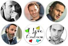 "Set of 6 Andrew Lincoln 1.25"" Pinback Button Flat Back Or Magnets"