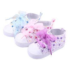 1x Baby Boots Girls Lace Up Soft Sole Crib Sneakers Shoes Toddler Shoes