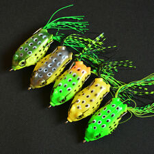 Hot Sale Simulation Frog Topwater Fishing Lure Crankbait Hooks Bass Bait Tackle
