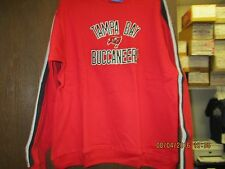 NFL-TAMPA BAY BUCCANEERS-YOUTH RED FLEECE/SWEATSHIRT W/ GRY/BLK STRIPES-LOGO FRT