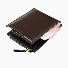 Men's Faux Leather Bifold Wallet Purse ID credit Card holder Clutch Coin Pockets