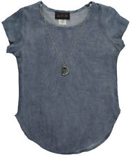 """Star Ride Big Girls' """"Wavy"""" Top with Necklace (Sizes 7 - 16)"""
