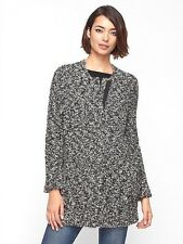 $428 BNWT Eileen Fisher Pebbly Wool Mohair ASH Zip Front Jacket Coat S M L