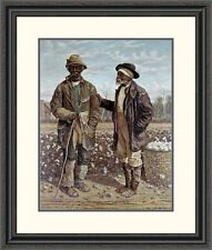 'Two Elderly Cotton Pickers' by Frederick Walker Framed Painting Print