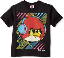 Official Angry Birds Big Neon Angry Bird Youth T-shirt - Video Game Movie Rovio