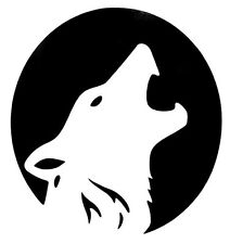 Wolf Full Moon Howling Silhouette Car Truck Window Vinyl Decal Sticker 12 COLORS