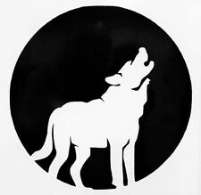 Full Wolf Moon Howling Silhouette Car Truck Window Vinyl Decal Sticker 12 COLORS