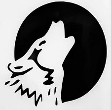 Howling Full Moon Wolf Silhouette Car Truck Window Vinyl Decal Sticker 12 COLORS