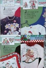 Choice of Daisy Kingdom No-Sew Fabric Christmas Applique -Teddy Angel Santa Cat