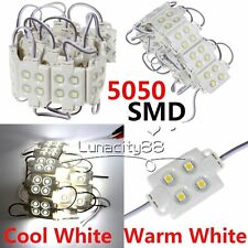 Bulks 5050 SMD Waterproof IP66 4 LED Modules Lights White for Home Xmas Decor