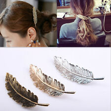 Wholesale Simple Leaf Feather Hair Clip Hairpin Barrette Bobby Pins Accessories