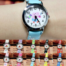 Pink Pig Quartz Watch with White Dial Analogue Display and Printed Strap Nice