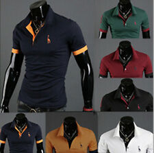 Fashion POLO Shirt Slim Fit Mens Tops Tee Casual Style Short Sleeve T-shirt