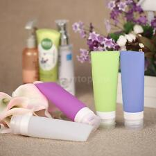 4pcs Portable Silicone Lotion Shampoo Shower Gel Packing Bottles Container A4N7