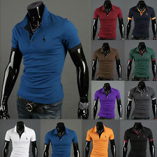 New Men's Short Sleeve Slim Fit Stylish Polo Shirts Casual T-shirts Tee Tops