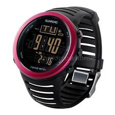 Weather Forecast Barometer Altimeter Thermometer Digital Fishing Watch Mens H4G5