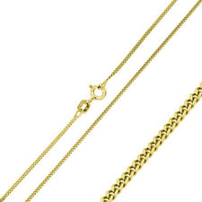 2.7mm 925 Sterling Silver Curb Chain Necklace / 14K Gold Plated made in italy