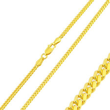 2.7mm 925 Sterling Silver Bombe Chain Necklace / 14K Gold Plated made in italy