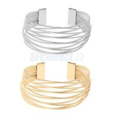 Women Steel Wire Multi Layer Loop Bracelet Bangle Cuff Wrap Jewellery