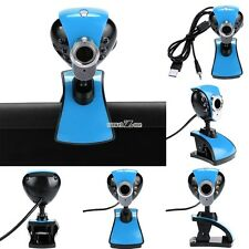 USB2.0 12 Megapixel 6 LED Webcam Camera with 3.5mm Mic for PC Laptop S0BZ