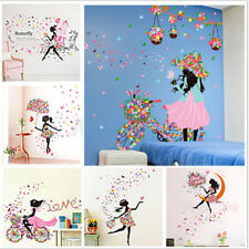 Removable Girl Flower Decals Vinyl Art Mural Wall Sticker Kids Girl Room Decor