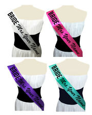 Party Sash Personalized Bachelorette Sash, Custom Wedding Sash Future Mrs. Sash